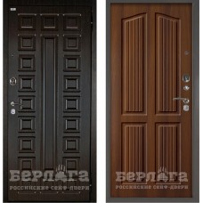 Входная Металлическая Дверь Берлога Оптима 2П Сенатор (венге/Лондон дуб рустикальный)