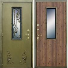 Входная металлическая дверь АСД с ковкой (Дуб старый)