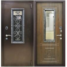 Входная металлическая дверь Снедо Плющ Винорит (Грецкий орех)