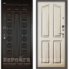 Входная Металлическая Дверь Берлога Оптима 2П Сенатор (венге/Лондон ларче светлый)