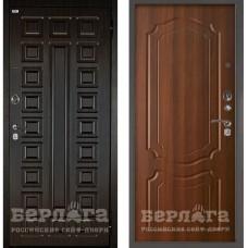 Входная Металлическая Дверь Берлога Оптима 2П Сенатор (венге/Мишель дуб рустикальный)