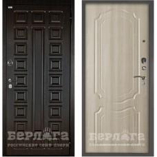 Входная Металлическая Дверь Берлога Оптима 2П Сенатор (венге/Мишель ларче светлый)