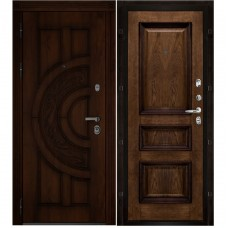 Входная металлическая дверь Атлант Барселона (Дуб/Бренди)
