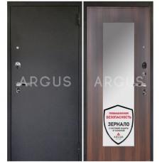 Входная металлическая дверь Аргус 1_Люкс Про Милли коньяк калифорния/Чёрный шёлк