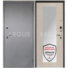 Входная металлическая дверь Аргус 1_Люкс Про Милли ларче светлый/Серебро антик