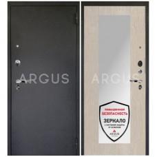 Входная металлическая дверь Аргус 1_Люкс Про Милли ларче светлый/Чёрный шёлк