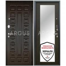 Входная металлическая дверь Аргус Люкс АС Милли венге/2П Сенатор венге