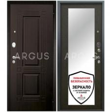 Входная металлическая дверь Аргус Люкс АС Милли венге/2П Триумф венге
