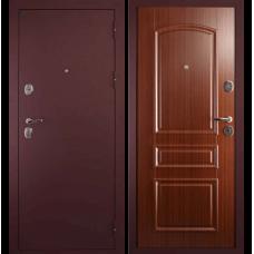 Входная металлическая дверь Дива 3 (Брусничный бархат/орех тисненый)