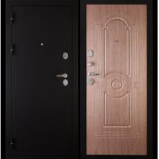 Входная металлическая дверь Дива 3 (Черный бархат/венге коричневый)