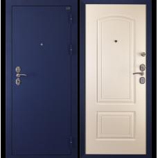 Входная металлическая дверь Дива 4 (Синий бархат/белый шелк)
