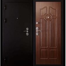 Входная металлическая дверь Дива 4 (Черный бархат/орех бренди)