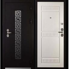 Входная металлическая дверь Дива 7 (Черный бархат/ясень белый)