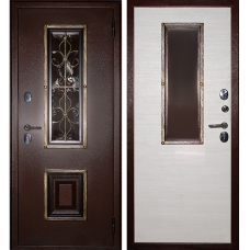 Входная металлическая дверь Дива К-04 (клен канадский светлый)