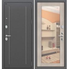 Входная металлическая дверь Groff T2-220 с зеркалом (Капучино вералинга)